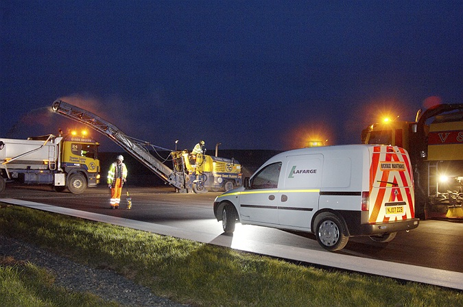 Commercial Photographer, Kirkwall Airport, Runway resurfacing, Lafarge, Orkney Islands, UK