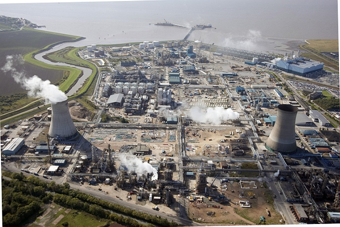 Commercial Photographer, Aerial photograph, Oil and Gas refinery construction, Hull, UK